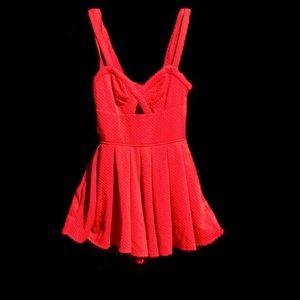 Material Girl Red Romper